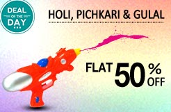Holi Hai! Pichkari And Gulal @ Flat 50% Discount From Snapdeal
