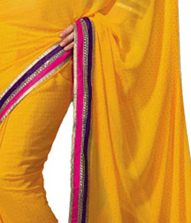 Khazana Yellow Trendy Saree