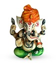 Earth Home Decor Pagdi Ganesha Idol