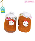 Isabelle Brown Teddy Infant Booties Pack of 2 For Kids