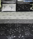 Bombay Dyeing Black & White Bed Sheet