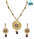 Sia Magnificent Round Traditional Rasrawa Pendant Set