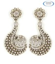 Vendee Fascinating AD Studded Silver Earrings