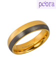 Peora Brilliant Dual Tone Tungsten Ring