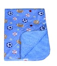 Carter Adorable Printed Baby Blanket - Blue