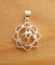 Designer Silver Heavenly Sterling Silver Om Pendant