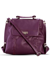 Butterflies Shiny Purple Sling Bag