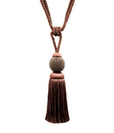 Deco Window Magnificent Chocolate Brown Tassel Tieback