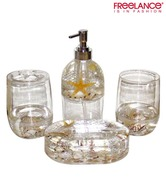 Freelance Trendy Transparent Bathroom Set