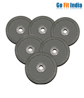 Gofitindia 20 Kg Rubber Weight Plates For Home Gym (1 kg x 2 Pcs + 2 kg x 2 Pcs + 3 kg x 2Pcs + 4 kg x 2Pcs)