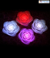 Kytes India Rose LED Candle Set - 4 Pcs