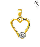 AG Angelic Heart Diamond Pendant