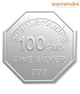 Anantamudra 100g 24 kt Certified Laxmi Silver Coin In 999 Purity