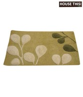 House This! Green Petal Print Bath Rug