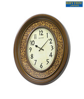 Rhythm Brown & Cream Cheetah Print Wall Clock