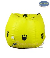 Orka Bean Bags Paws Design Yellow  Bean Bag