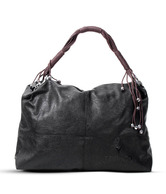 Calvino Stunning Black Shiny Finish Handbag