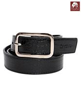 Espana Elegant Black Croc Embossed Ladies Belt
