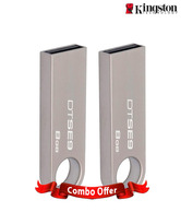 Kingston DT SE9 8GB Pen Drive (Steel Body) Combo of 2