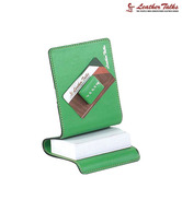 Leather Talks Green Paper Slip Holder