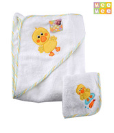 Mee Mee White Baby Towel W/Napkin