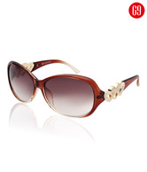G9 Heart To Heart Brown Sunglasses