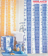 Freelance Blue & White Striped Shower Curtain