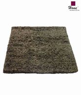 Home Smart Brown Cotton Chenille Rug
