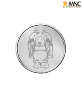 MNC 100 Gm Joyous Laughing Buddha Silver Coin With 99.9% Purity