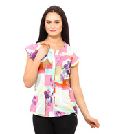 Osia Italia Multicolour Printed Cotton Shirt