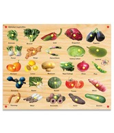 Kinder Creative Alphabet Vegetables With Knobs & Pictures