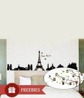 Vedi Toys Paris Eiffel Tower Wall Decal - Buy 1 Get 1 Free