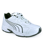 Puma Sarian IV White & Black Sports Shoes