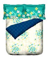 Portico New York Cadence Cream Floral King Size Bed Sheet & 2 Pillow Covers