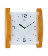 Opal Light Brown Frosted Glass Clock