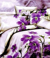 Skap Floral Beige Double Bed Sheet & 2 Pillow Covers