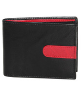 Vermello Black & Red Textured Wallet