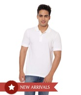 United Colors of Benetton White Collar T shirt