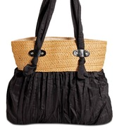 Hand-e-Crafts Black Crush Pattern Handbag