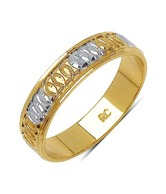 Johareez Two Tone Plated Stainless Steel Band Ring