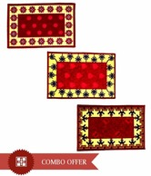 FabLooms Aesthitically Designed Doormat Combo- Set Of 3