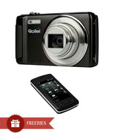 Rollei Powerfles 610 HD 16MP Point & Shoot Camera (Black) + LG CU920 Touch screen Phone