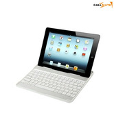 Callmate Aluminum Shell Bluetooth Keyboard Case Stand For Apple iPad 2, 3 & 4 White With Screen Guard