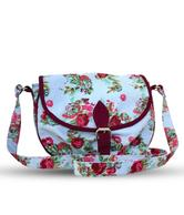 Carry On Bags Pink Canvas Floral Sling Bag