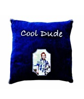 Ultra Snob Blue Cushion Cover With Picture Frame