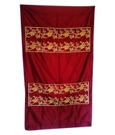 Nakalchee Bandar Embroidered Rod Pocket Curtain- Door
