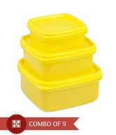 Nayasa Yellow Container Set of 3 with 3 Pcs each