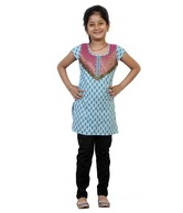 Kilkari Turquoise Kurti For Kids