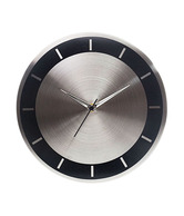 Cosmosgalaxy Stylish Round Silver Wall Clock