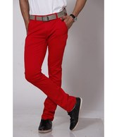Design Roadies Red Chinos